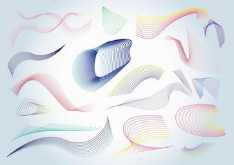espirales de colores vector