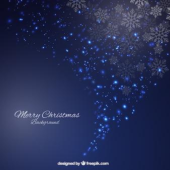 Espumoso de fondo de Navidad azul en estilo abstracto