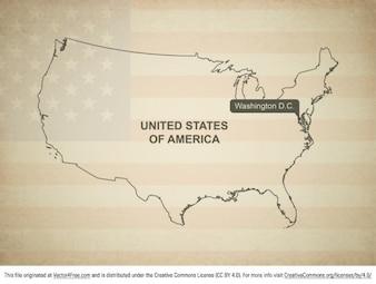 Estados unidos mapa vectorial