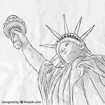 Estatua de la Libertad esbozada