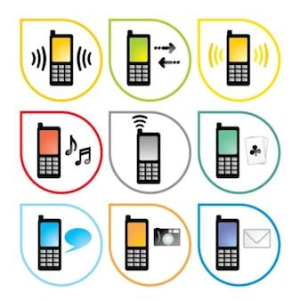 estilo de teléfono móvil icono del vector