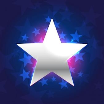 Estrella de plata en fondo azul