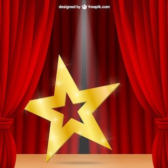 Estrella en un escenario