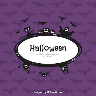 Etiqueta de Halloween de miedo