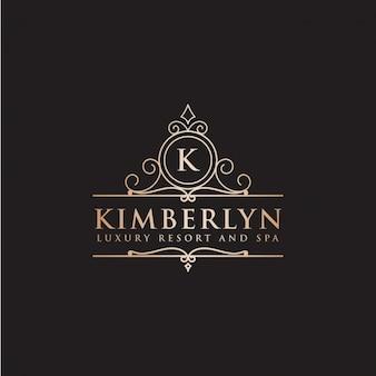 Etiqueta de hotel de lujo de la letra k