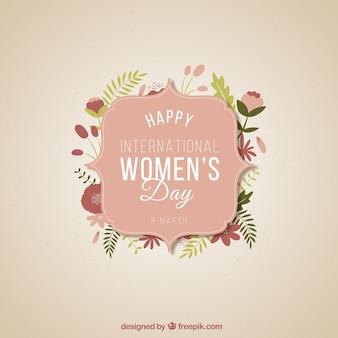Etiqueta del día internacional de la mujer