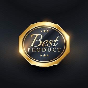 Etiqueta dorada para el mejor producto