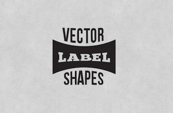Etiqueta negro da forma paquete de vectores