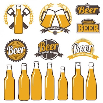 Etiquetas a color de cerveza