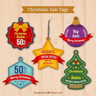 Etiquetas bonitas de ofertas navideñas