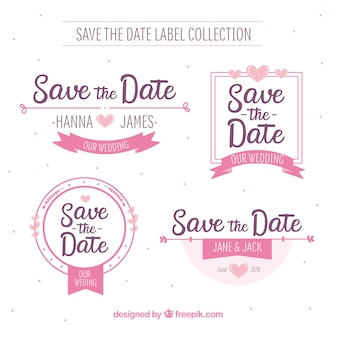 Etiquetas de boda con estilo adorable