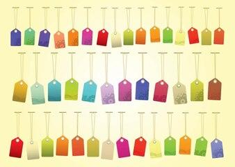 Etiquetas de colores