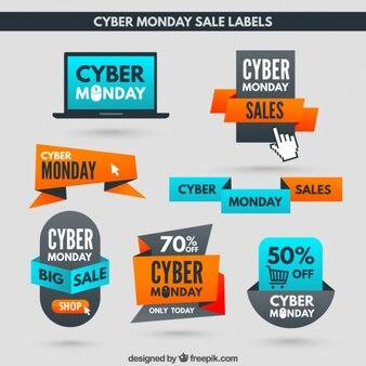 Etiquetas de descuento de Cyber Monday