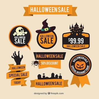 Etiquetas de descuento para halloween