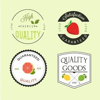 Etiquetas de frutas premium