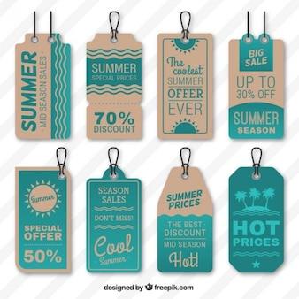 Etiquetas de las ventas de verano