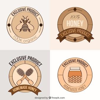 Etiquetas de miel orgánica
