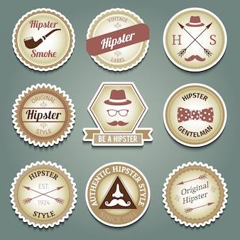 Etiquetas de papel Hipster