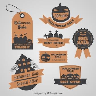 Etiquetas de rebaja de Halloween