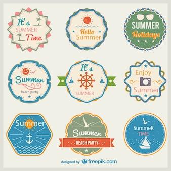 Etiquetas de verano vintage
