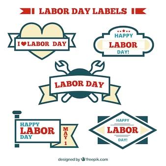 Etiquetas del día del trabajo modernas