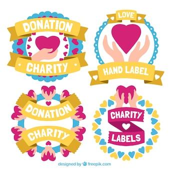 Etiquetas para la caridad