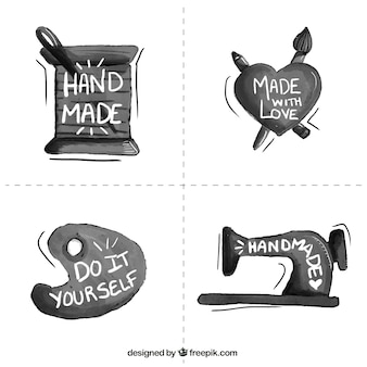 Etiquetas sobre oficios artesanales