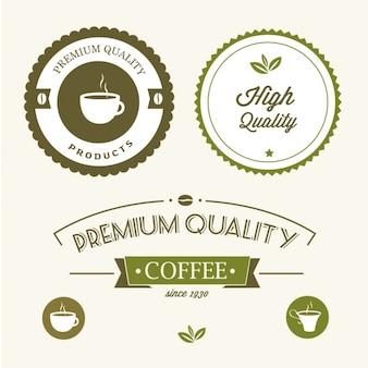 Etiquetas verdes de calidad premium