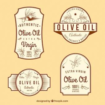 Etiquetas vintage de aceite de oliva