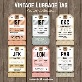 Etiquetas vintage de equipaje