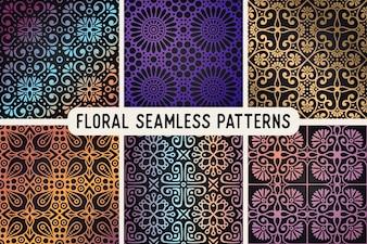 Étnica patrón floral sin fisuras resumen patrón ornamental