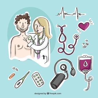 Examen médico Ilustración