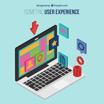 Experiencia de usuario isométrica