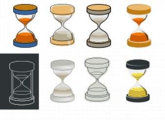 experimentar con relojes de arena