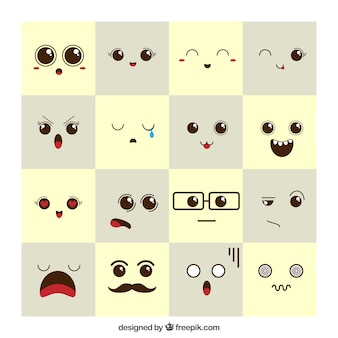 Expresiones adorables de estado de ánimo