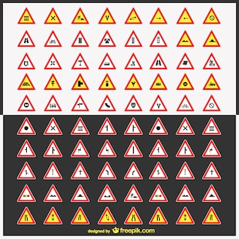 Extensa colección de señales de tráfico