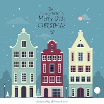 Fachadas bonitas de casas de navidad