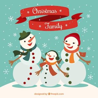 Familia del muñeco de nieve