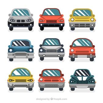 Fantástica colección de coches frontales