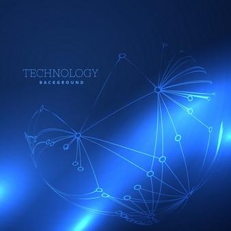 Fantástico fondo azul acerca de la tecnología