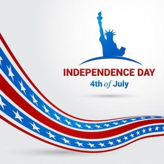 Fantástico fondo del 4 de julio del día de la independecia americana