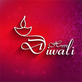 Fantástico fondo rojo para diwali