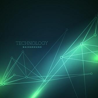Fantástico fondo verde acerca de la tecnología