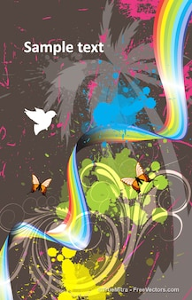 Fauna y flora gráficos abstractos fondo conjunto de vectores