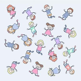 Felices los niños de dibujos animados