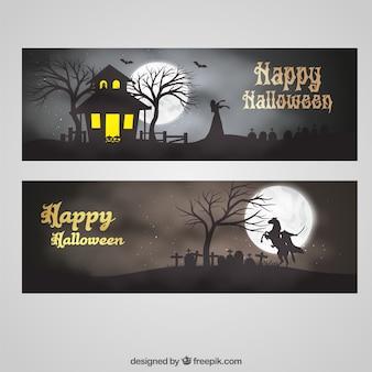 Felicitación banner de Halloween