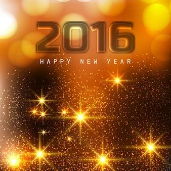 Felicitación brillante de feliz año nuevo 2016
