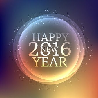 Felicitación de deseos de feliz año nuevo
