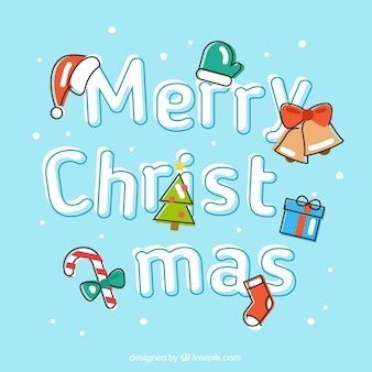 Felicitación de navidad azul