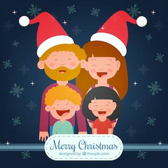 Felicitación de navidad familiar